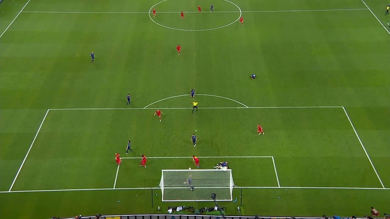 O gol de Chadli, da Bélgica, sobre o Japão por vários ângulos