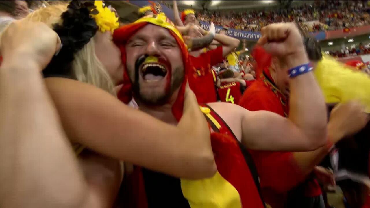 Bélgica vira sobre o Japão e vai enfrentar o Brasil
