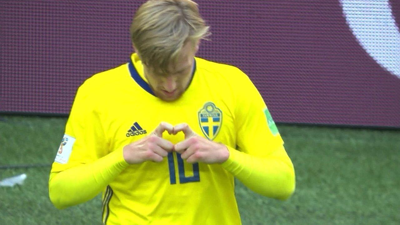 O gol de Suécia 1 x 0 Suíça pelas oitavas da Copa do Mundo 2018