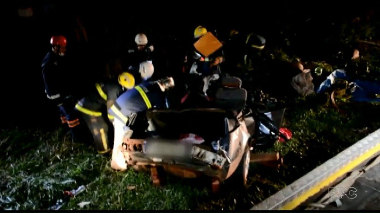 Cinco pessoas morrem em acidente na BR-369 região de Campo Mourão