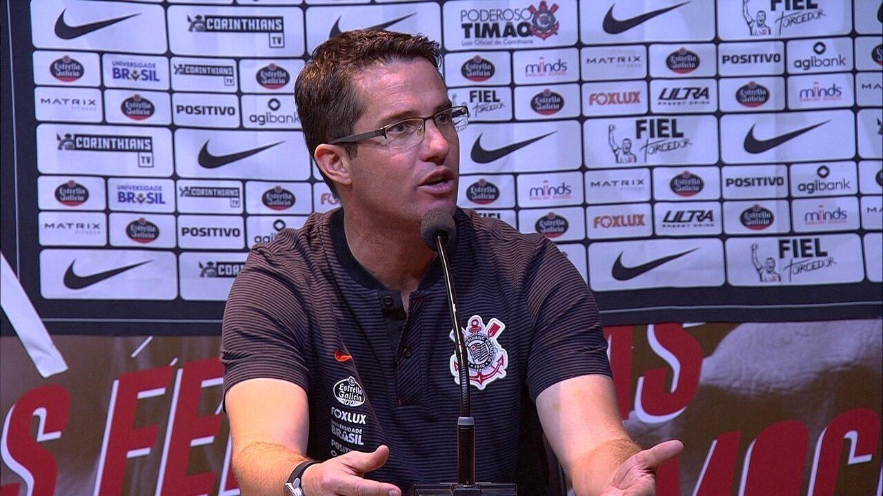 Entrevista coletiva de Osmar Loss, técnico do Corinthians, após vitória sobre o Cruzeiro