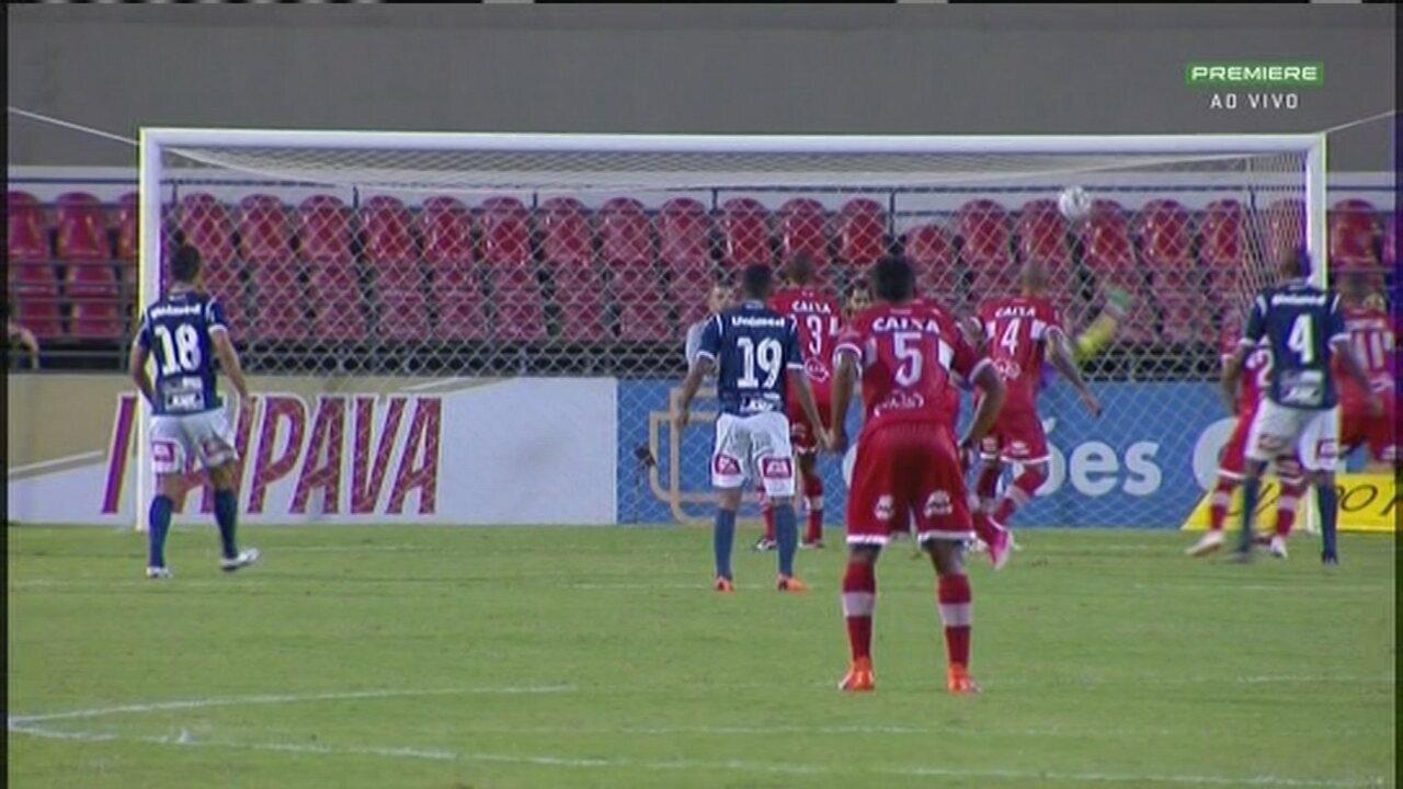 Veja o gol de Leílson na vitória do CRB sobre o São Bento por 1 a 0