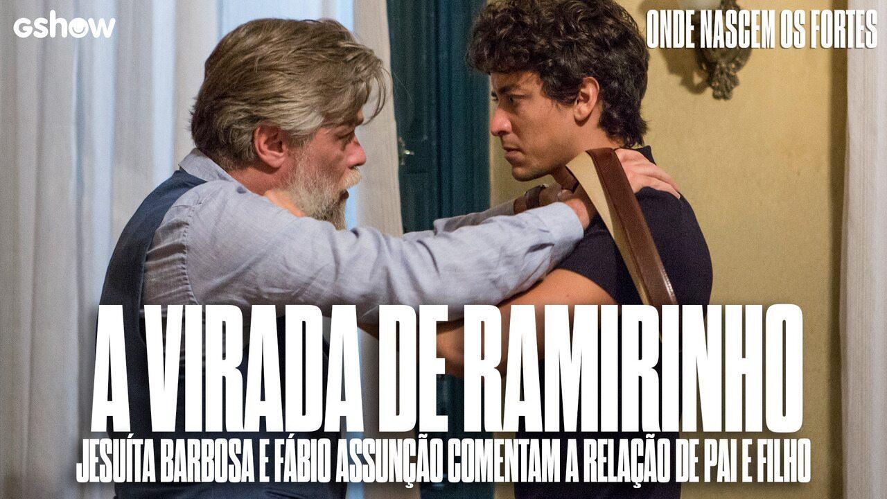 Jesuíta Barbosa e Fabio Assunção comentam a relação de pai e filho na supersérie