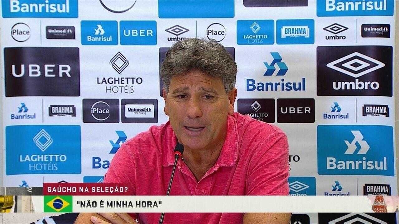 Renato Gaúcho sobre o sonho de comandar a Seleção: