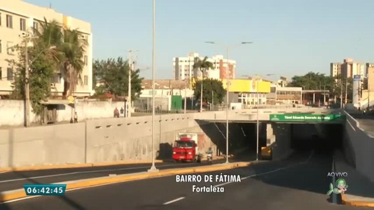 Tunel foi liberado na Av. Borges de Melo, em Fortaleza.