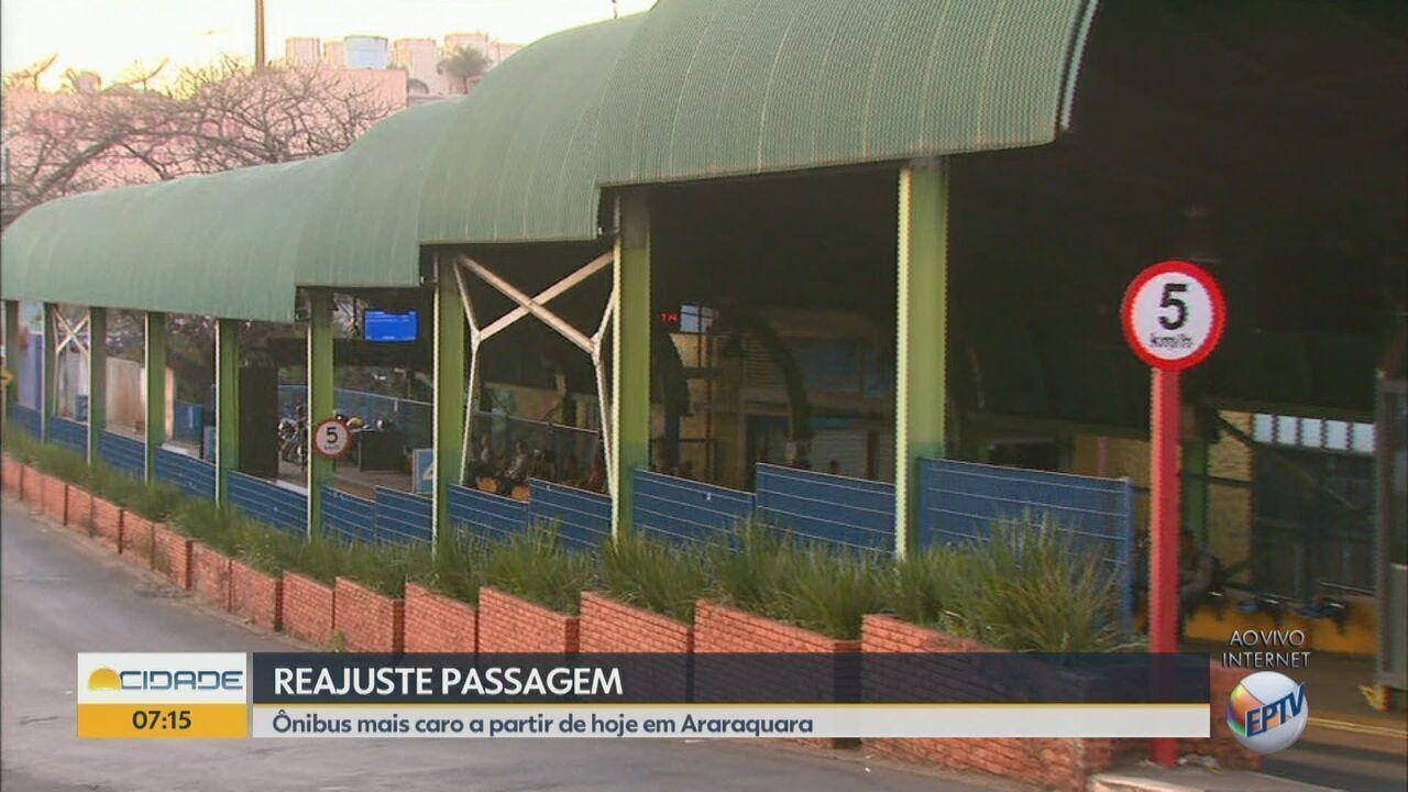 Tarifa de ônibus está mais cara em Araraquara