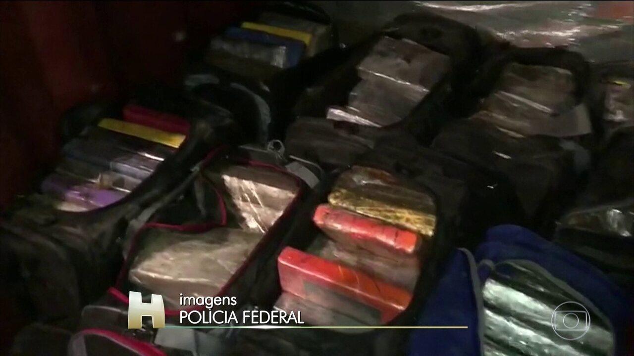 Receita e Polícia Federal fazem operação contra o tráfico internacional de drogas