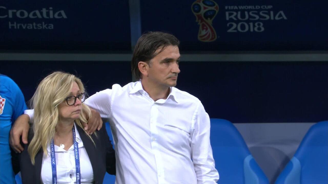 Veja reações de técnico croata nos pênaltis contra a Rússia nas quartas da Copa do Mundo