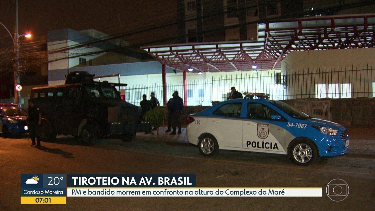 PM é morto na Avenida Brasil ao abordar dois homens em uma moto