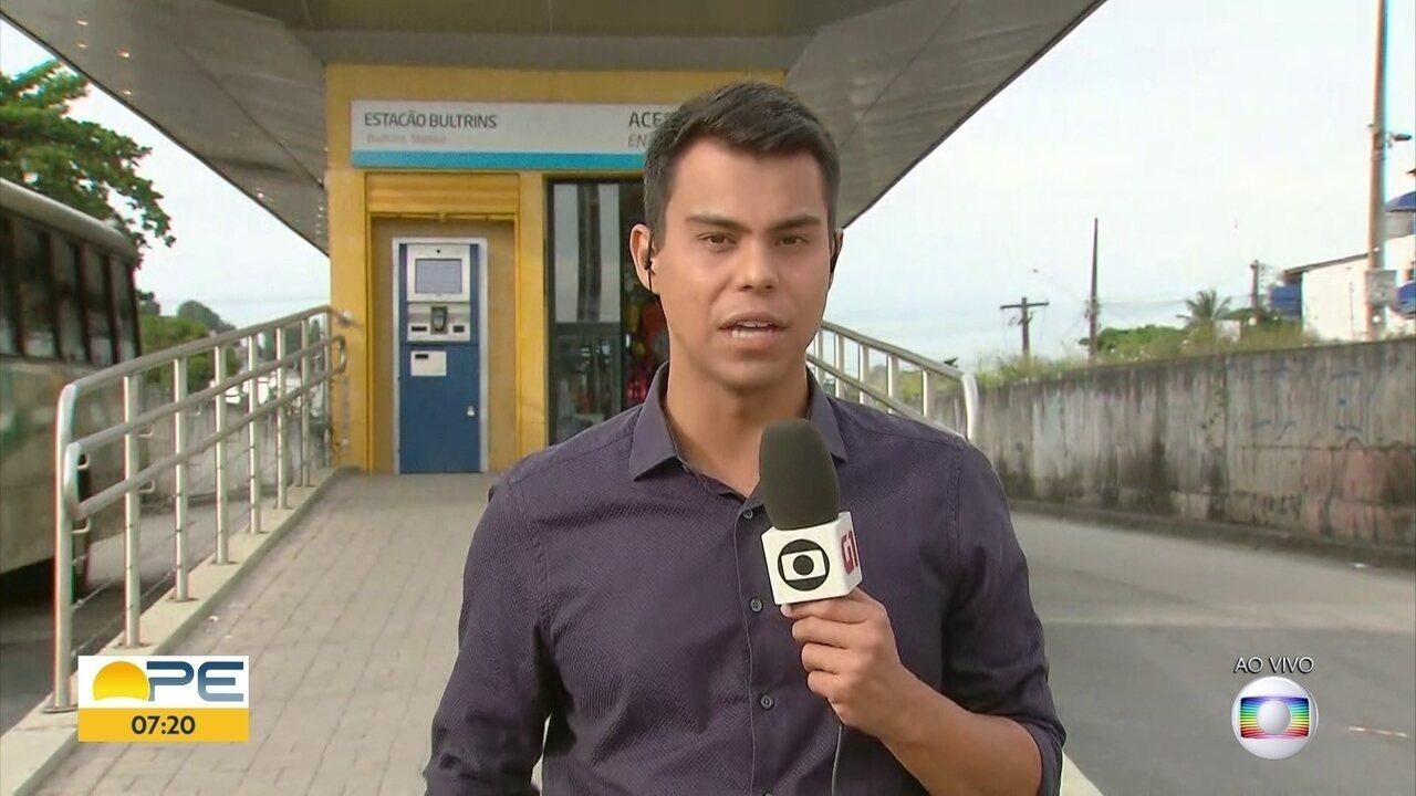Tentativa de assalto a ônibus BRT termina com homem morto em Olinda