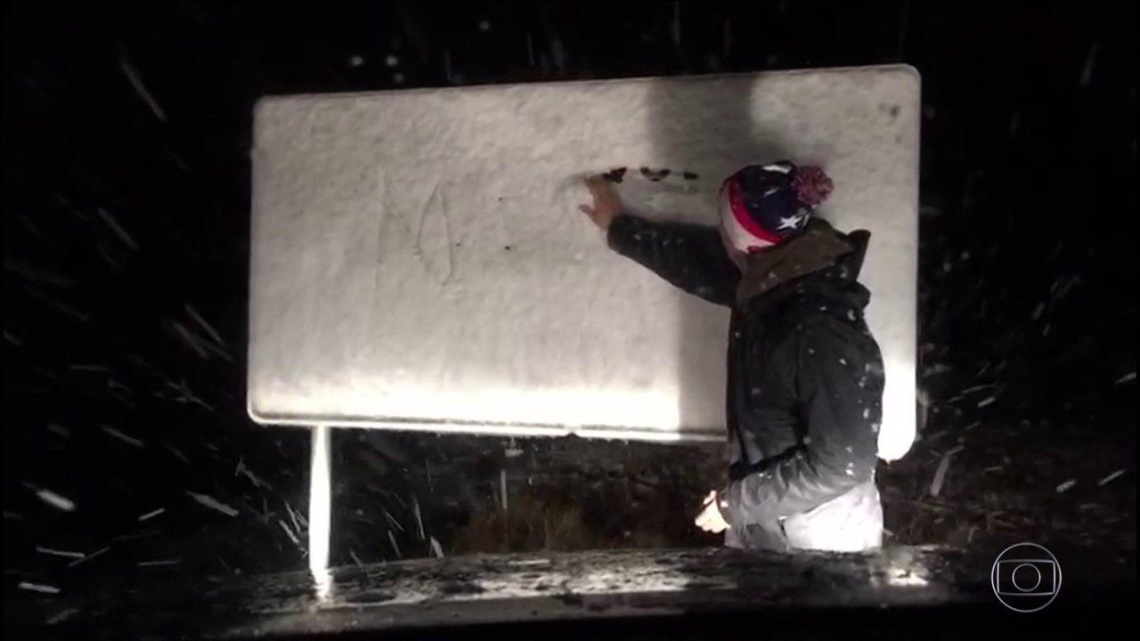 Serra Catarinense registra neve na madrugada desta terça (10)