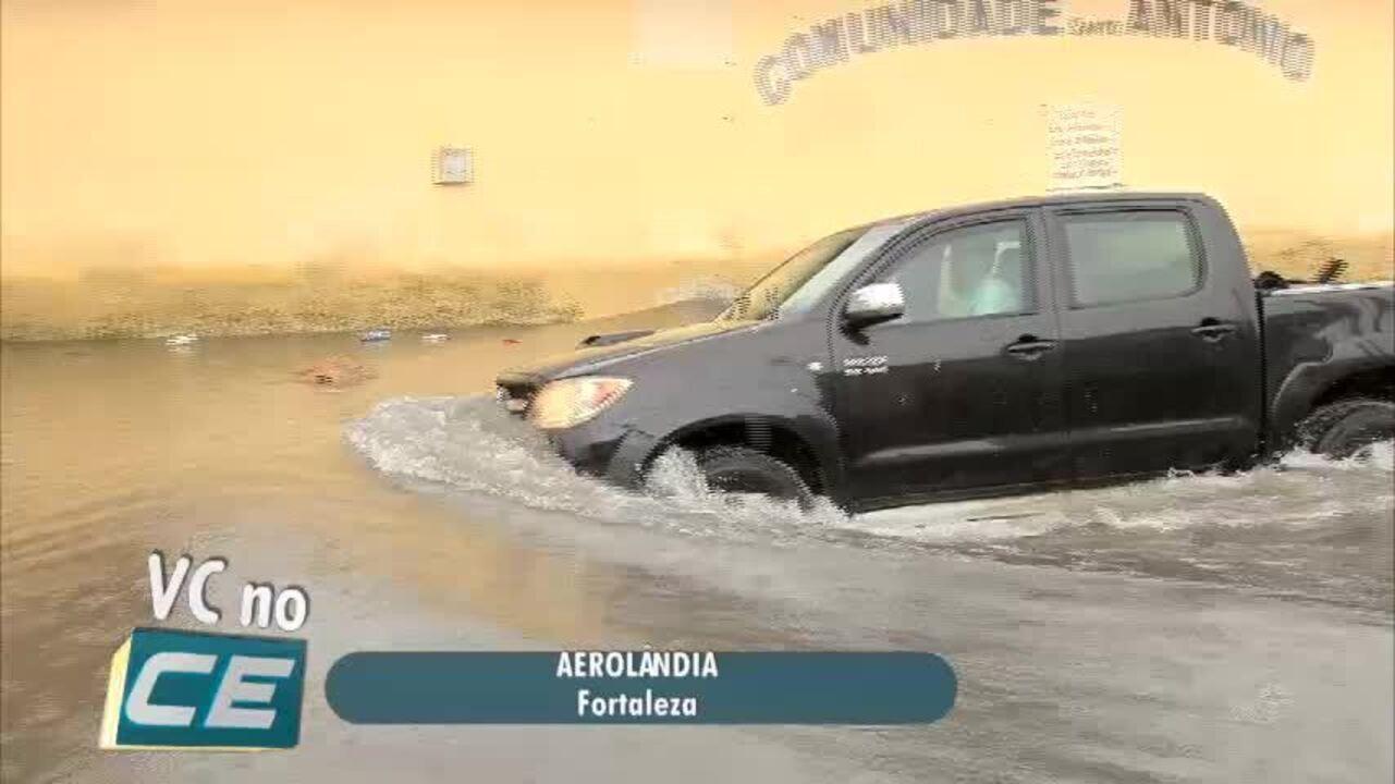 Confira pontos alagados após chuva em Fortaleza