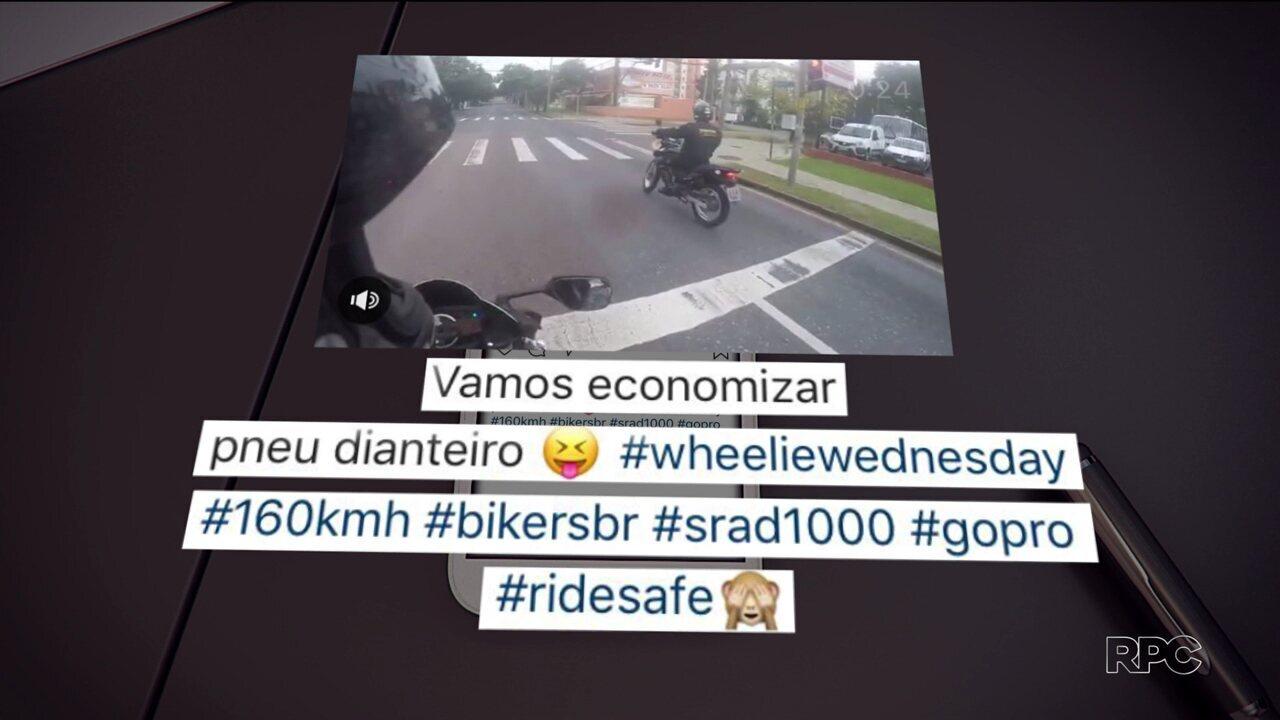 Novos vídeos do caso do motociclista que atropelou três pessoas vão ajudar na investigação
