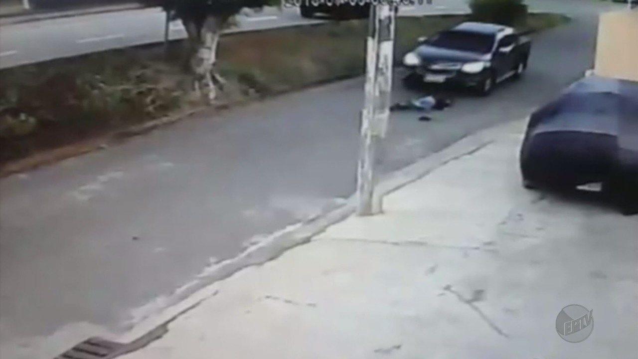 Flagrante de atropelamento: motorista não viu a pedestre em Paraguaçu (MG)