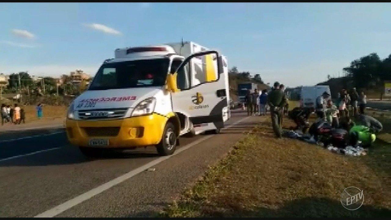 Menino de 11 anos fica ferido ao ser atropelado na Rodovia Santos Dumont, em Campinas