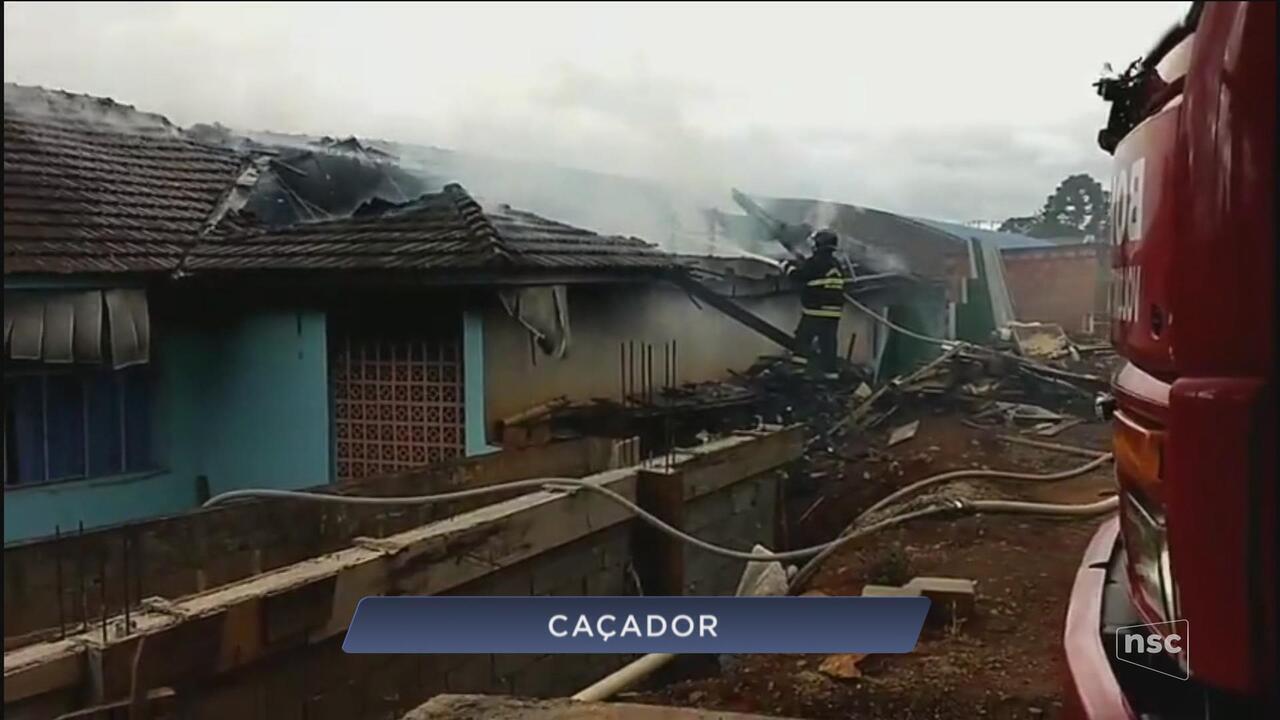 Giro: Alunos assumem autoria de incêndio que destruiu parte de escola em Caçador