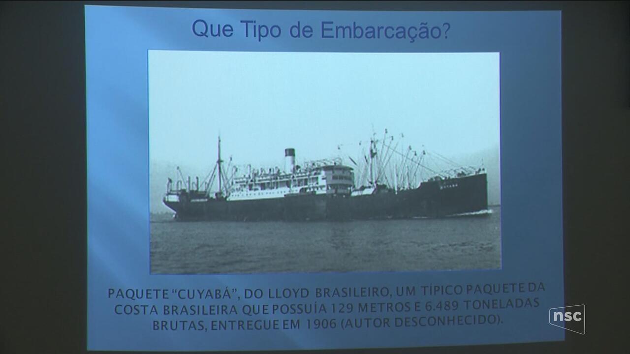 Estudo confirma que navio naufragou em Itajaí durante a Revolta da Armada