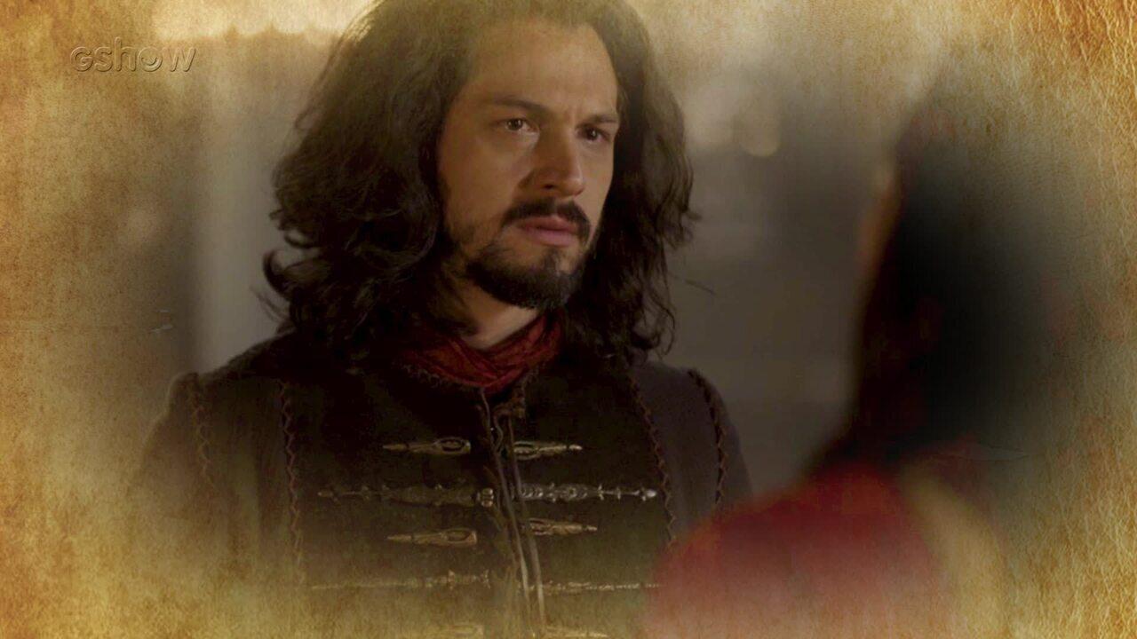 Resumo de 13/07: Afonso finge acreditar em Catarina e afasta Tiago do cargo