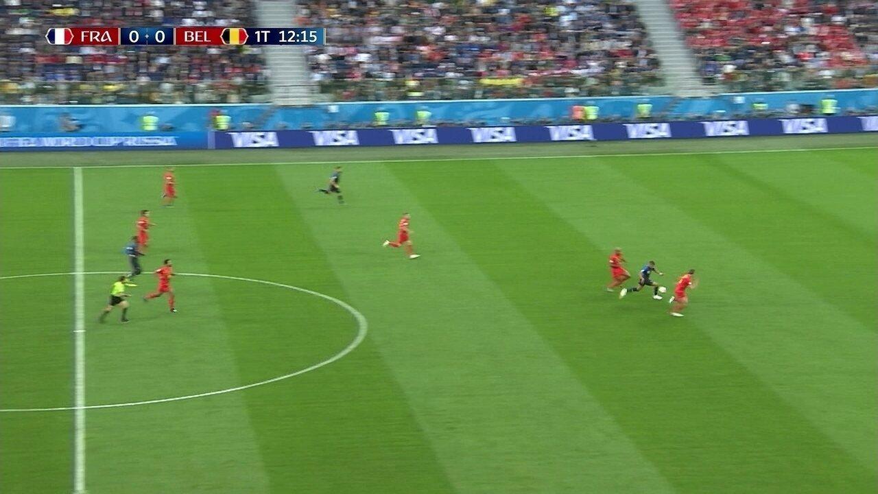 Veja arrancadas de Kylian Mbappé, da França, contra a Bélgica