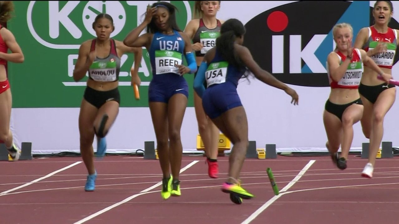 Americanas deixam o bastão cair e alemãs vencem o revezamento 4x100 no Mundial sub-20