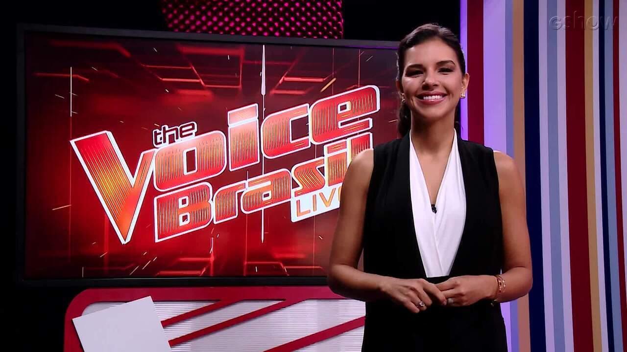 Mariana Rios explica as novidades do 'The Voice' na estreia do 'The Voice Brasil Live'