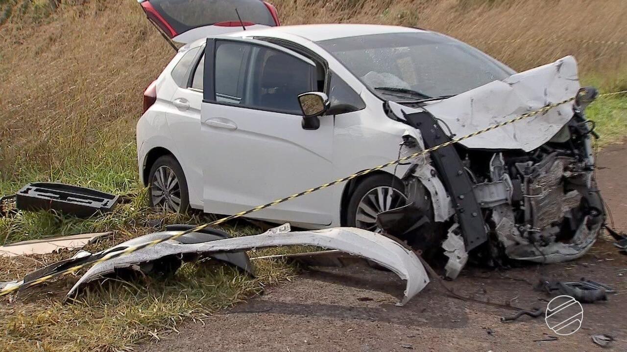Duas pessoas morreram e duas ficaram feridas em grave acidente na BR-060