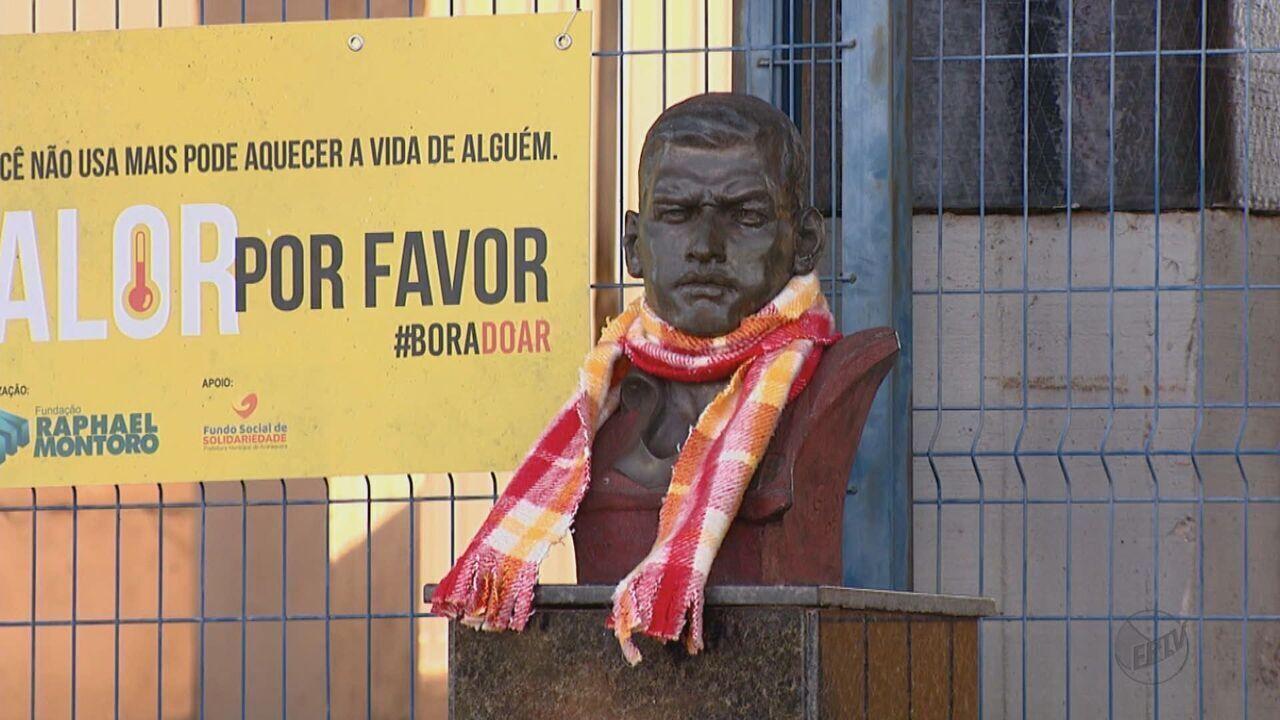 Fundação agasalha monumentos em campanha de arrecadação para entidades de Araraquara