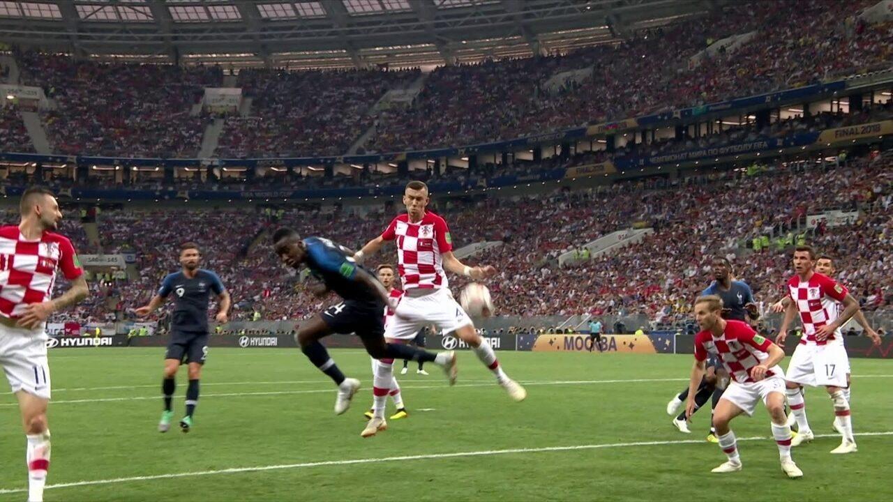 Comentaristas analisam lance de pênalti marcado a favor da França na final da Copa