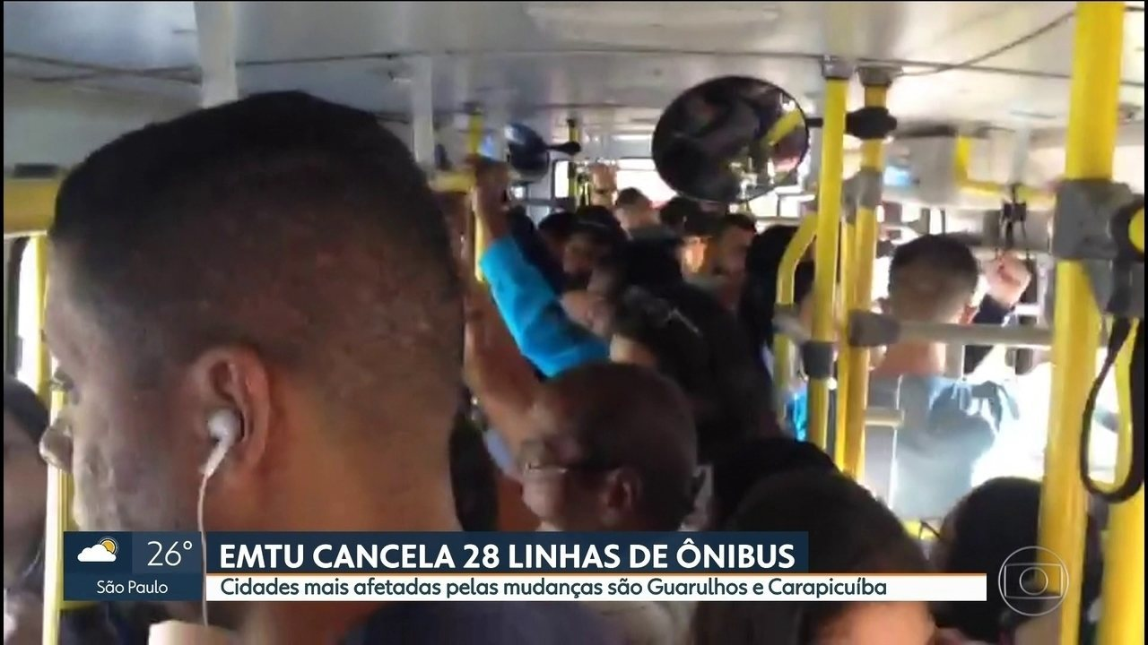 EMTU cancela 28 linhas de ônibus e passageiros têm que fazer baldeação