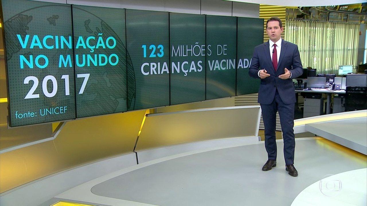 Número de crianças brasileiras vacinadas cai, diz Unicef