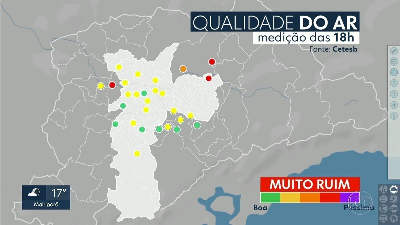Capital registra o pior índice de qualidade do ar dos últimos dias