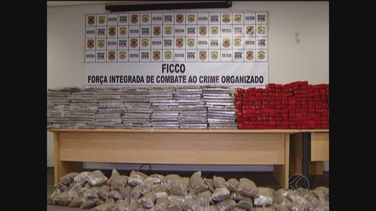 Quadrilha presa em Uberlândia usava a cidade como centro logístico de drogas