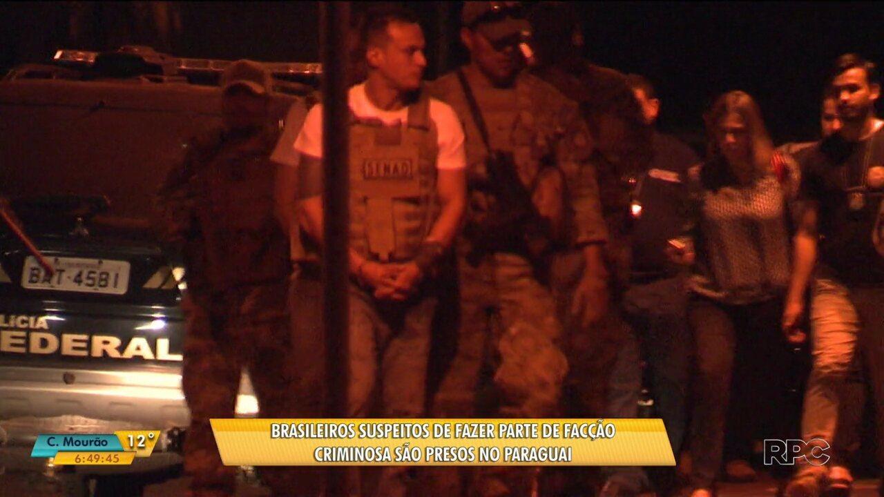 Brasileiros suspeitos de fazer parte de facção criminosa brasileira são presos no Paraguai