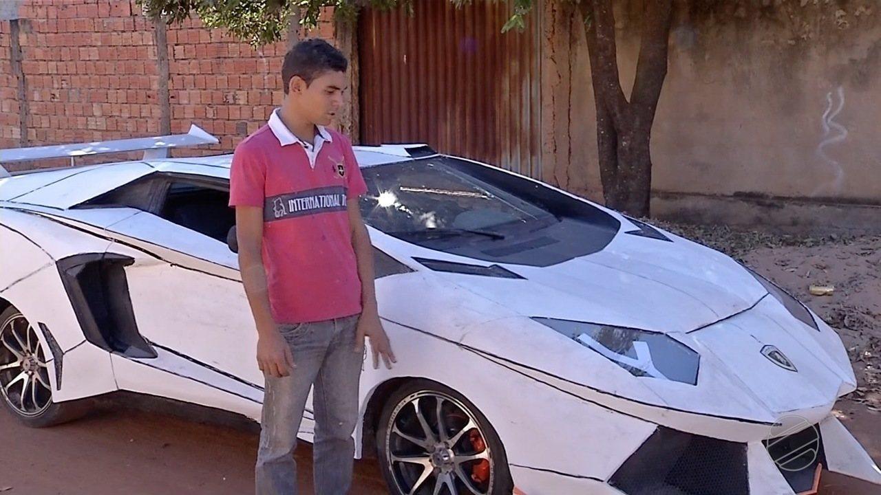 Pedreiro constrói o próprio carro de luxo em Rondonópolis