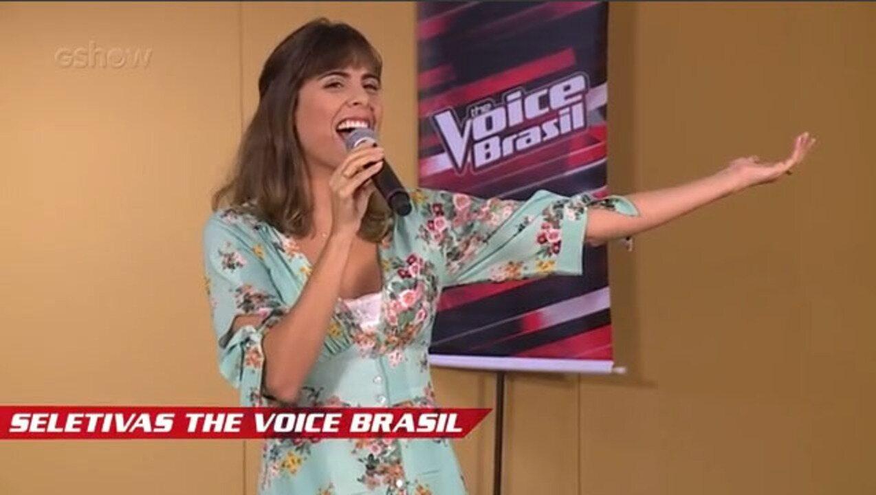 Confira vídeo exclusivo de Mariá Pinkusfeld nas seletivas de The Voice Brasil