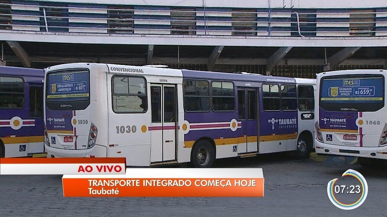 Integração do transporte público de Taubaté começa nesta sexta