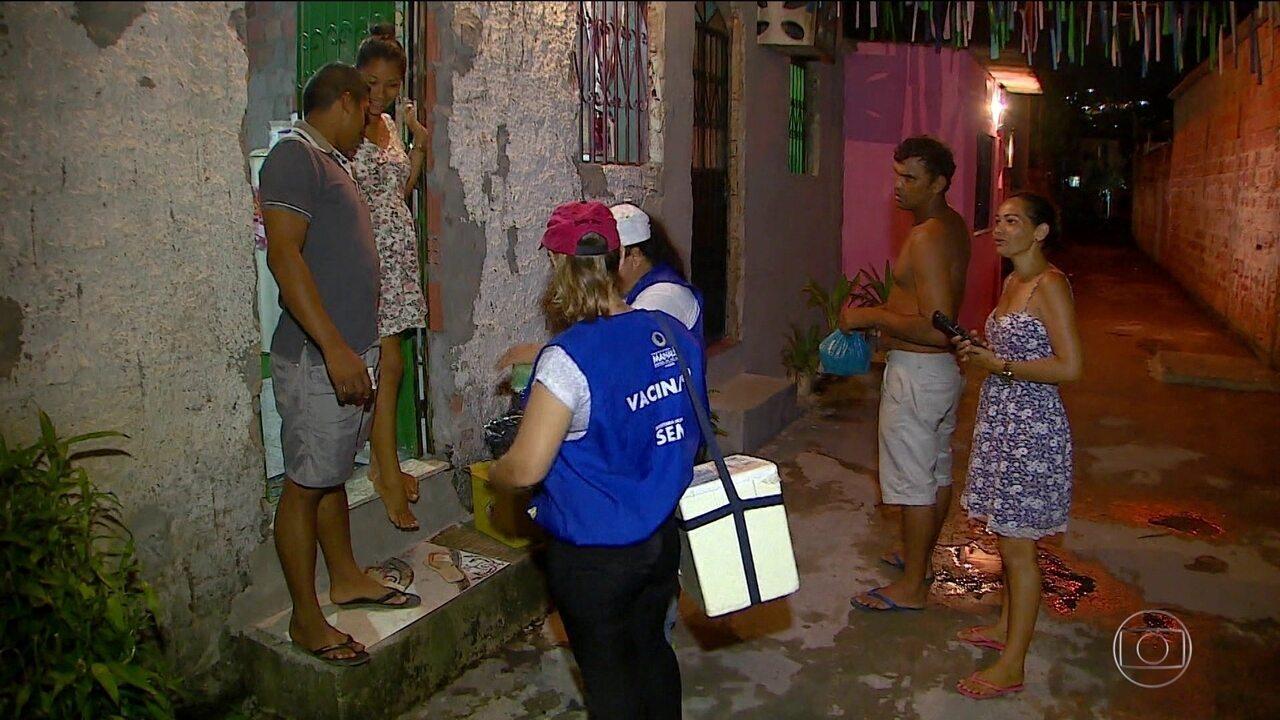 Policiamento reforçado garante vacinação contra o sarampo em Manaus