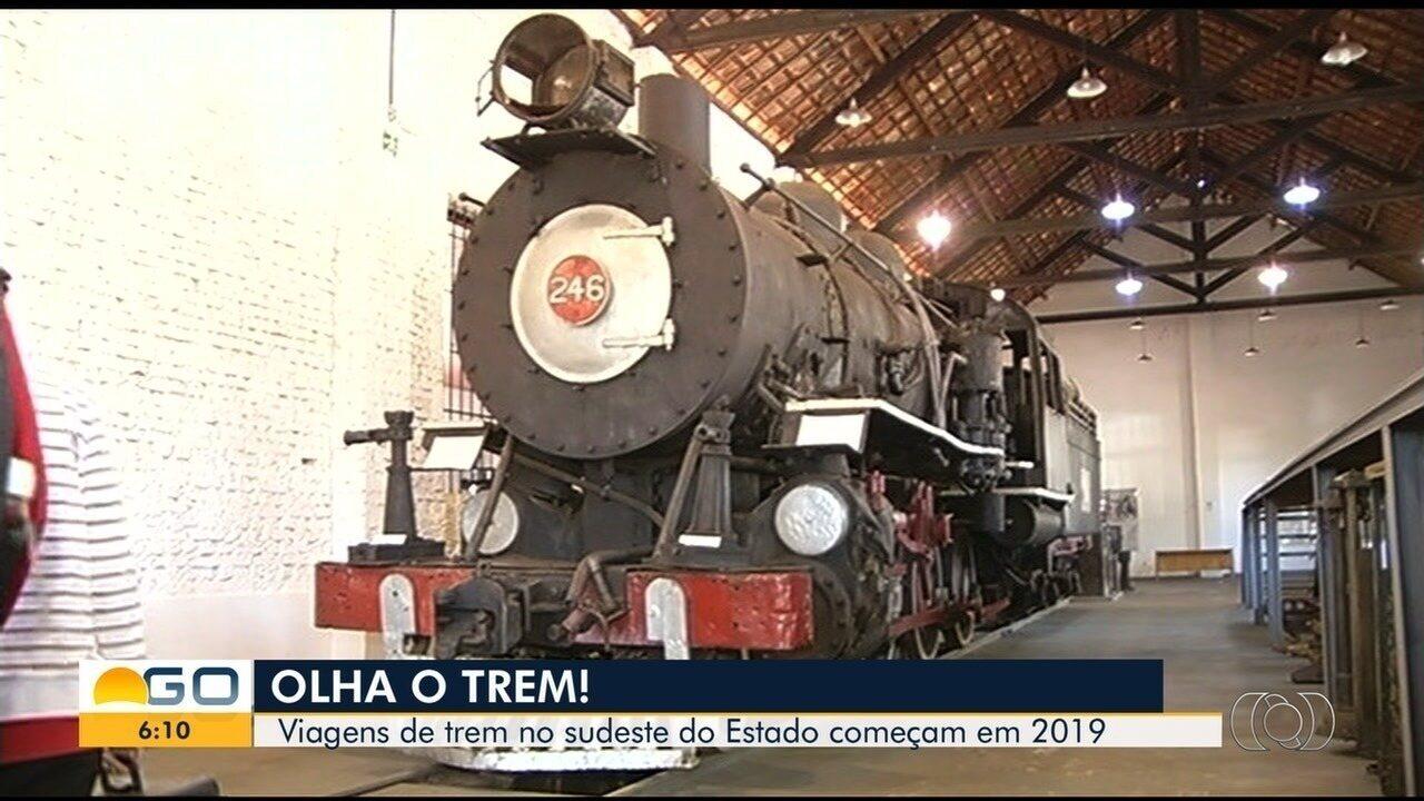 Região sudeste de Goiás terá linha de trem reativada para passageiros em 2019