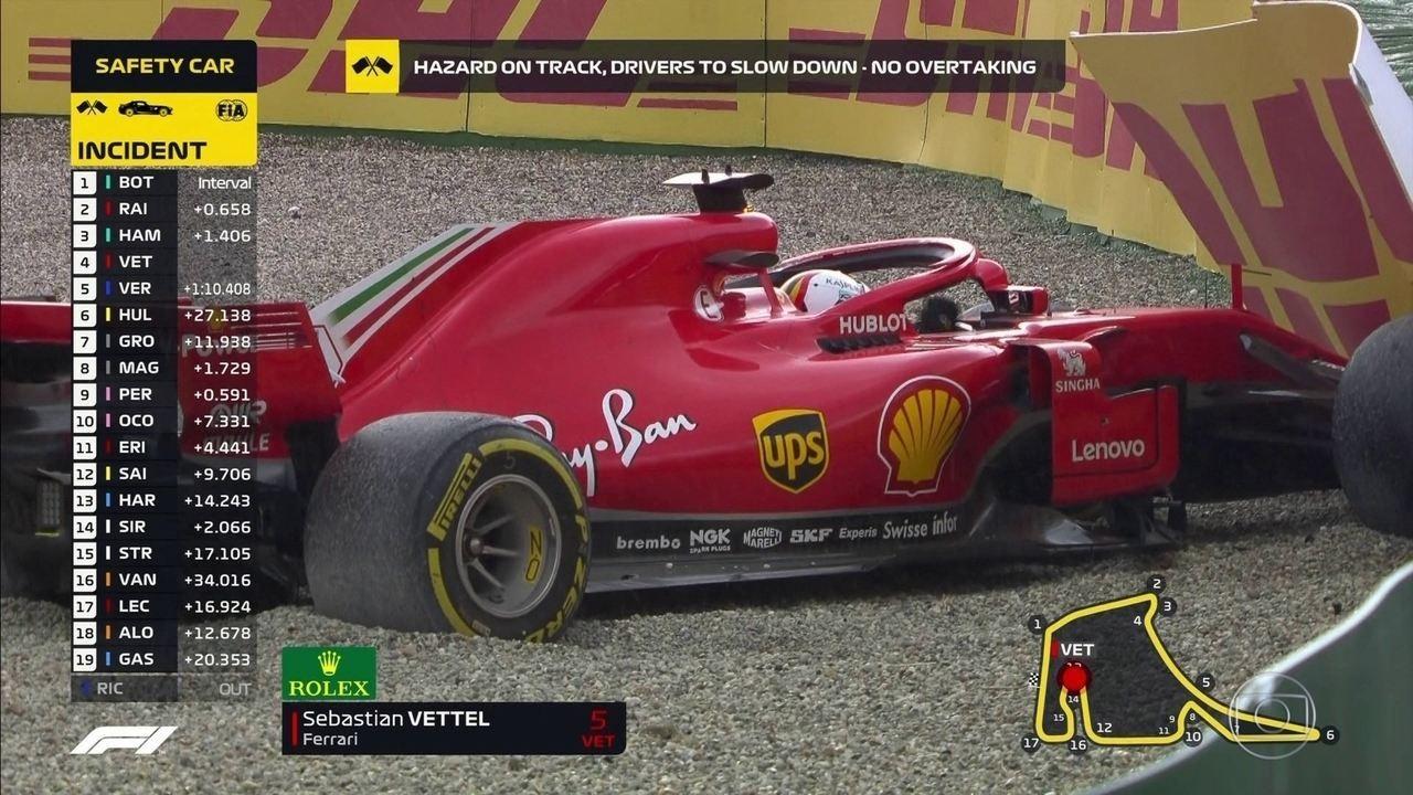 Que isso Vettel? Piloto bate e Bottas vai para os boxes GP da Alemanha