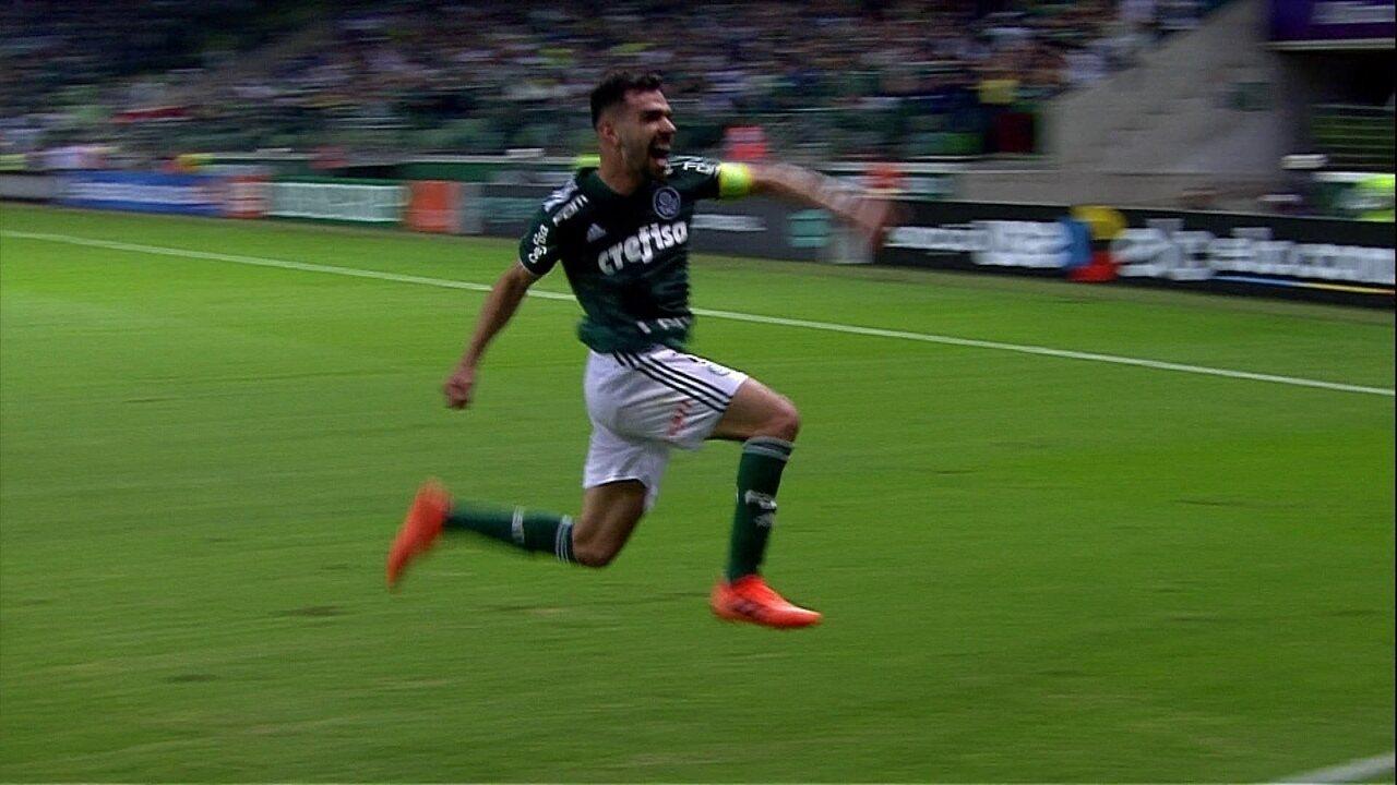 Gol do Palmeiras! Bruno Henrique marca de cabeça e marca, aos 48 do 2º tempo