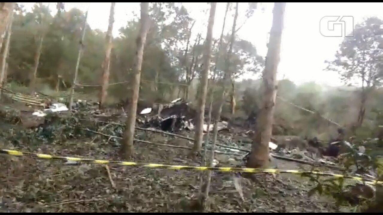 Nova imagens mostram como ficou a aeronave que levava o deputado Bernardo Carli