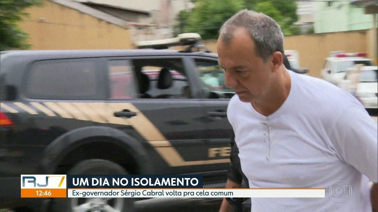 Ex-governador Sérgio Cabral passa dia no isolamento por discussão com promotor