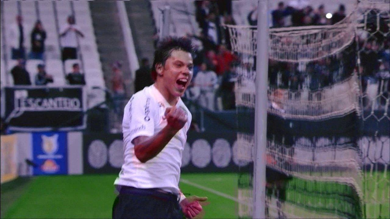 Os gols de Corinthians 2 x 0 Cruzeiro pela 15ª rodada do Campeonato Brasileiro