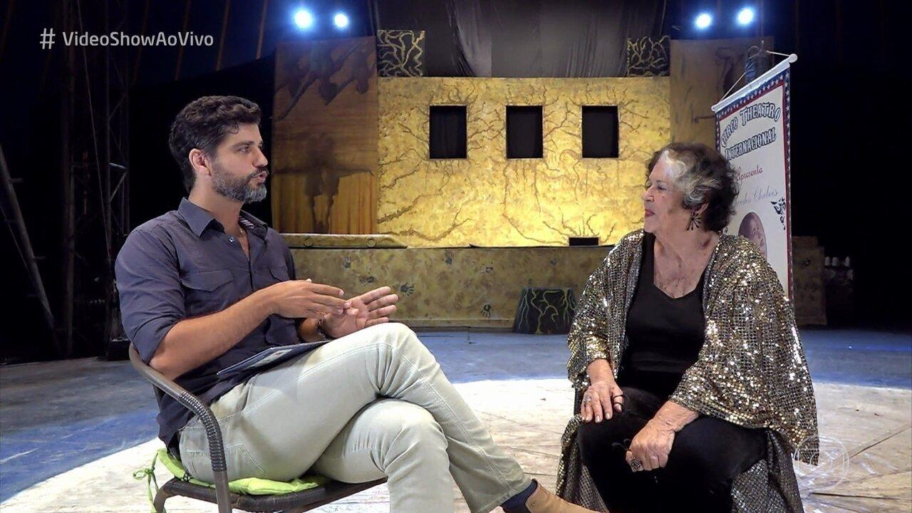 Bruno Cabrerizo mostra o talento da avó Mercedes