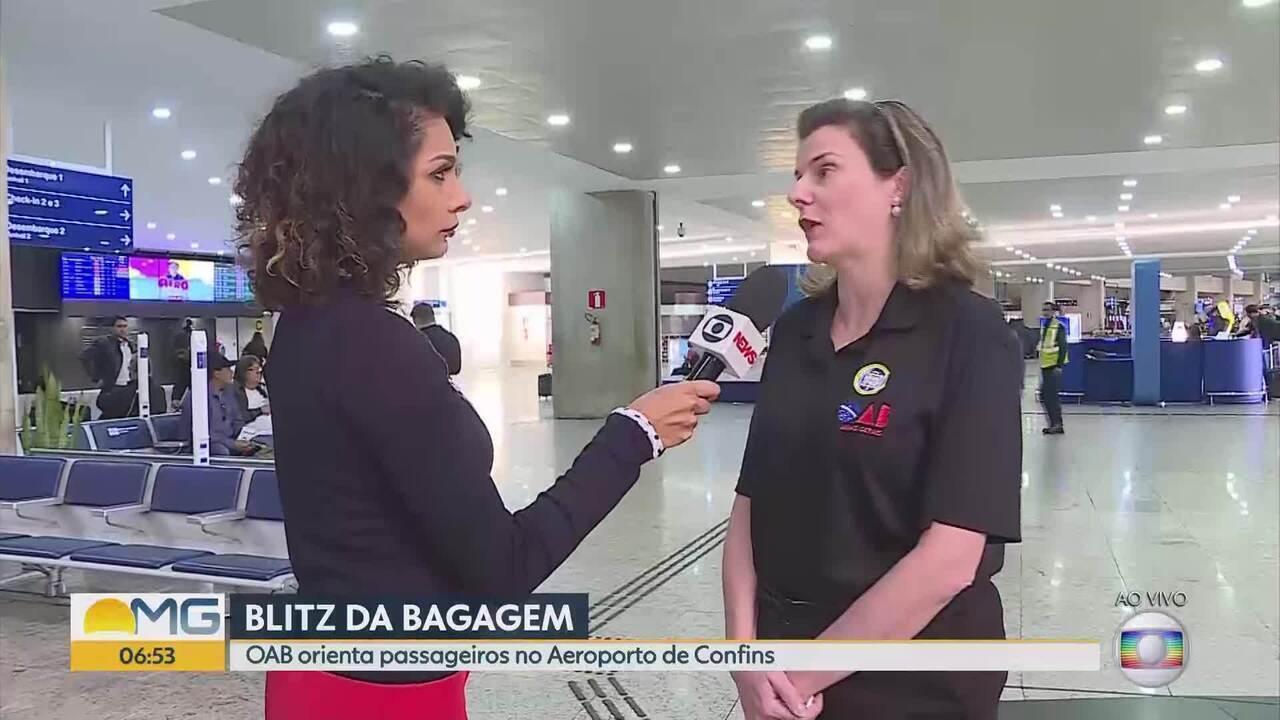 OAB orienta passageiros sobre bagagens em Confins
