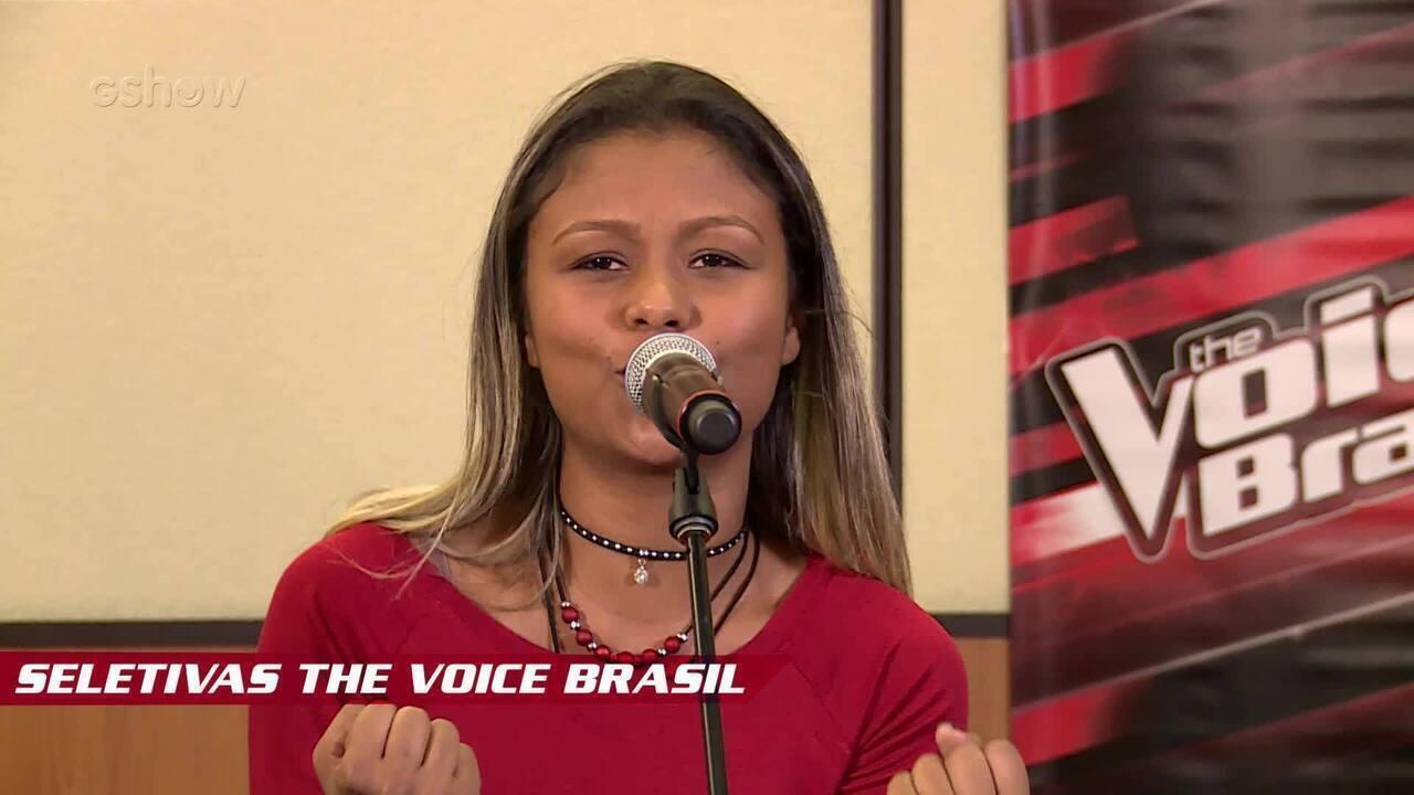 Confira vídeo exclusivo de Leticia Gonçalves na seletiva do The Voice Brasil