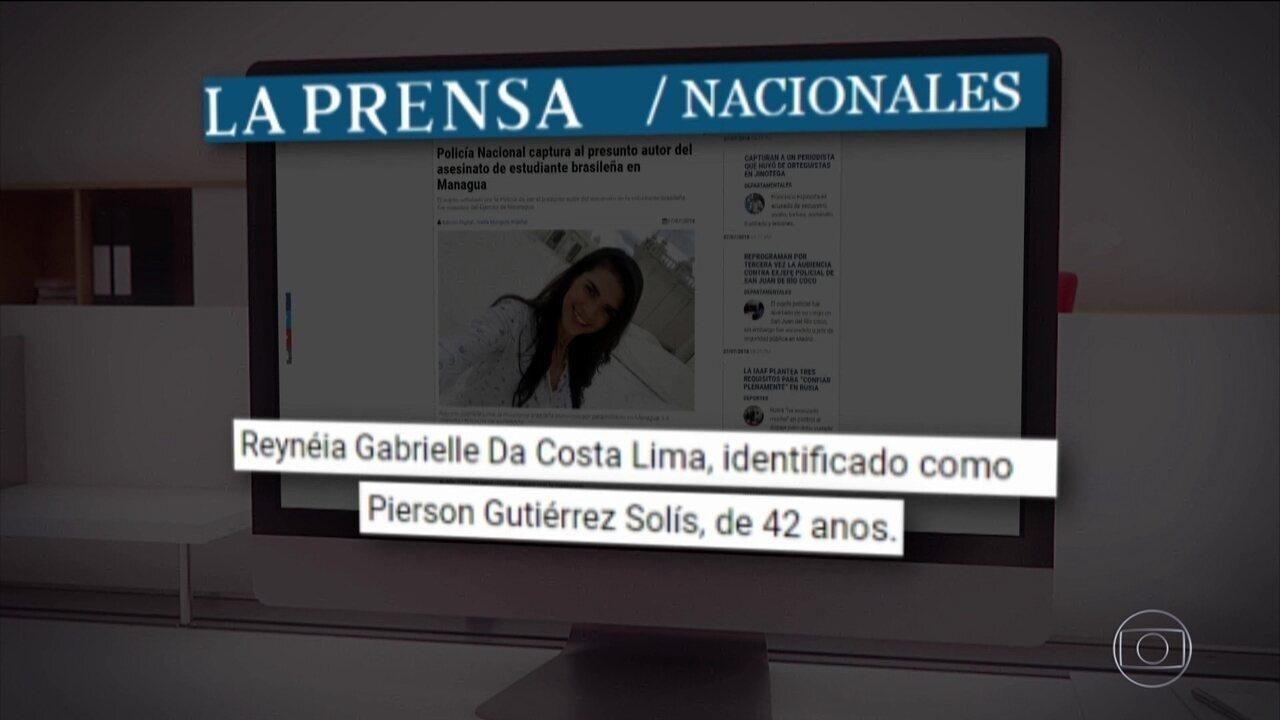 Nicarágua prende suspeito de matar brasileira