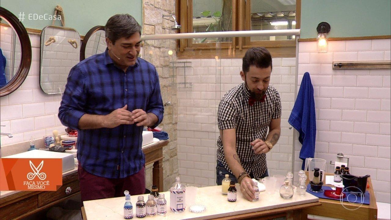 Aprenda a fazer óleo de barbear e loção pós-barba artesanais