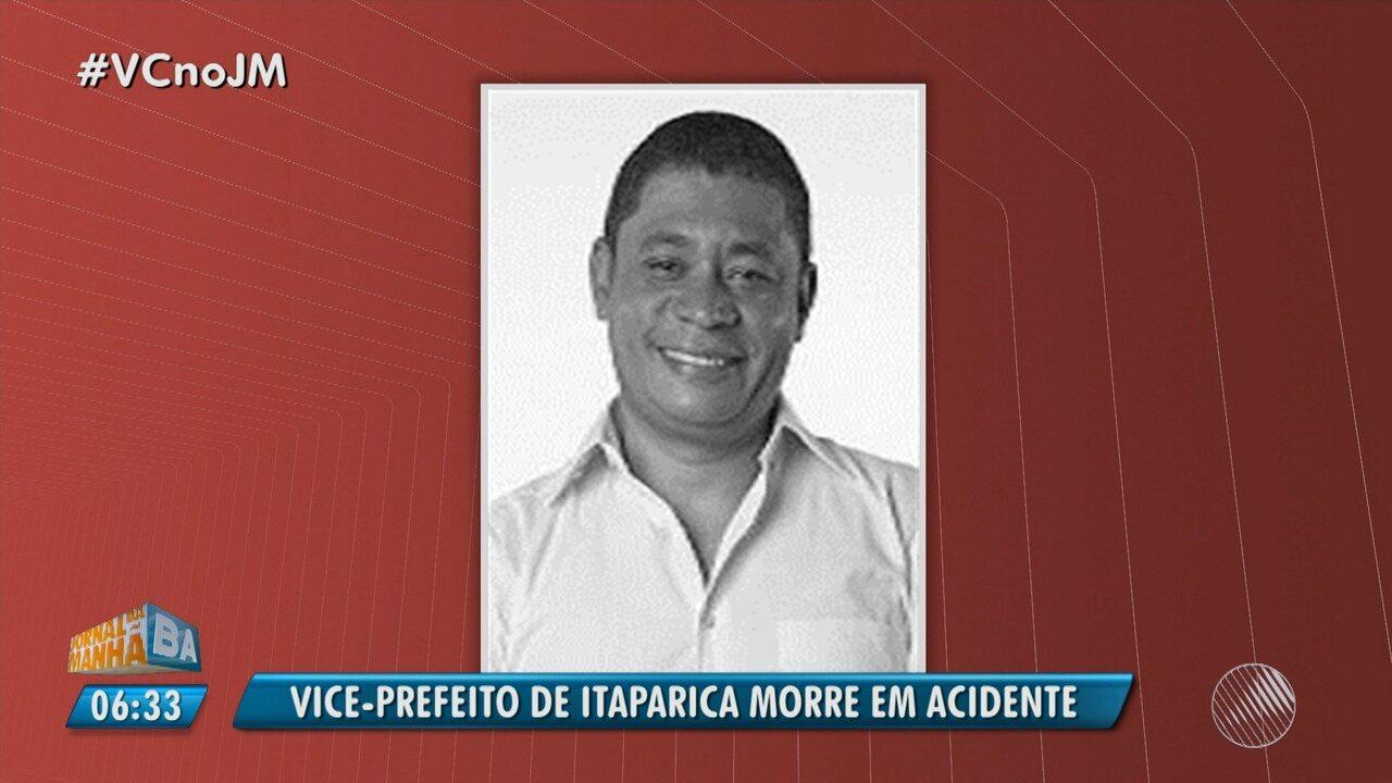 Resultado de imagem para Vice-prefeito de Itaparica morre após acidente de carro na Bahia e prefeitura decreta três dias de luto