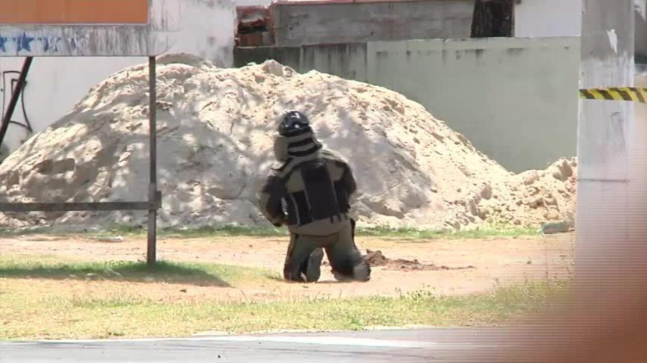 Polícia explode granada achada em frente a delegacia em Fortaleza
